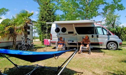 Campen an der Costa Brava