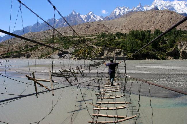 Hussaini-Brücke in Pakistan