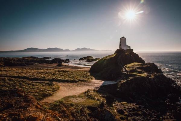 Leuchtturm am Wales Küste