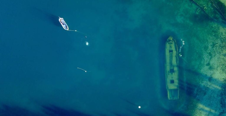 Schiffswrack im Lake Huron
