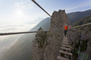 Walk in luftigen Sphären - Brücke in Österreich