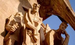 Figuren an der Sagrada Familia